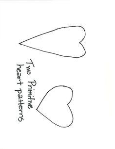 primitive heart pattern