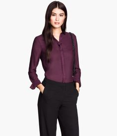 Fitted Blouse $24.95 | H&M US