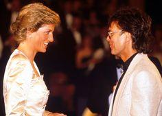 1988: Princess Diana and Cliff Richard at a charity tennis event at the John Lloyd Tennis Centre, London