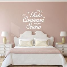 Spanish Quote Vinyl Wall Stickers Bedroom Wall Decals Birds Letterings Home Decor Bedroom Decoration Wallpaper. Category: Home Improvement. Product ID: Inspirational Wall Decals, Vinyl Wall Quotes, Wall Decor Quotes, Bedroom Stickers, Wall Decals For Bedroom, Home Decor Bedroom, Bedroom Kids, Wall Stickers Words, Wall Decor Stickers