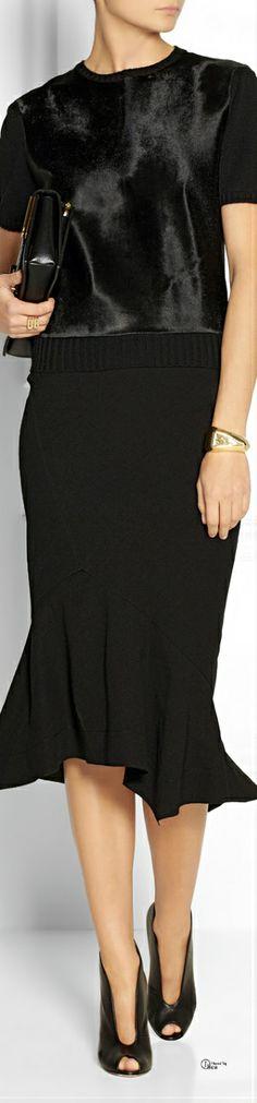Donna Karan Skirt ● Victoria Beckham top