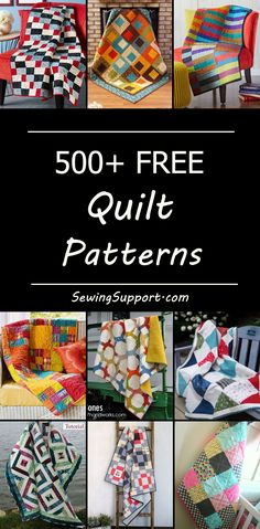 Free quilt patterns and tutorials. Choose from a variety of simple and easy designs great for a beginner to make, modern and traditional quilts, quilt block patterns, baby, jelly roll, log cabin quilt designs, and more. Quilting ideas and inspiration for your next sewing or quilting project. #quiltpatterns
