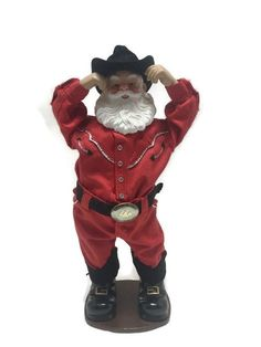 Holly Jolly Rock Santa Christmas Alan Jackson Musical Animated 1999 Merry Christmas 2017, Christmas Items, Santa Christmas, Christmas Villages, Musicals, Jackson, Saint Nick, Teddy Bear, Animation