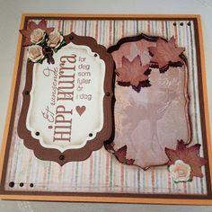 Kristinas kortblogg: Bursdagskort med vindu / Birthday card with window