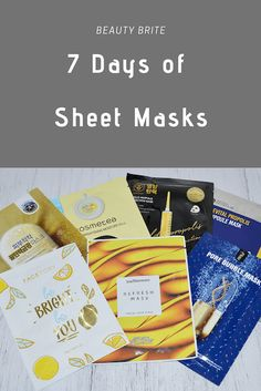 7 Days of Sheet Masks