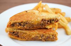 Sloppy joe grilled cheese. why did i never think of this?