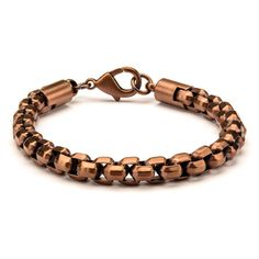Rose Gold Round Box Chain Bracelet // Rose Gold