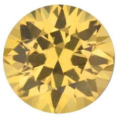 Natural Sapphires 4644: Natural Fine Yellow Sapphire Round Diamond Cut - Sri Lanka Top Grade Loose Gem BUY IT NOW ONLY: $34.04