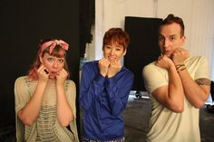 Simon and Martina with U-Kiss Kevin ( don't know the other people, but they can't do it as cute as Kevin!)