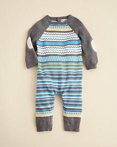 Kitestrings by Hartstrings Infant Boys' Sweater Romper - Sizes 0-12 Months