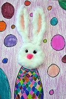 Cute Easter Bunny with cotton balls