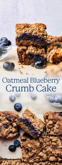 This healthy crumb cake is filled with bursting blueberries and a sugary crumb topping! Made with natural sweetener, oat flour, and is dairy-free friendly. You'll love every bite of this indulgent dessert without feeling weighed down! Make it gluten-free by using GF oat flour. Serve it up as a sweeter breakfast or healthy dessert! | asimplepalate.com #crumbcake #blueberries #oatflour Healthy Oatmeal Breakfast, Sweet Breakfast, Healthy Breakfast Recipes, Healthy Eating, Banana Crumb Cake, Banana Coffee Cakes, Oat Flour Recipes, Dairy Free, Gluten Free