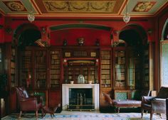 Sir John Soane Library, at the John Soane House Museum, London