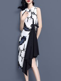 0a4a5a56ecd Stylewe Party Dresses Floral Dresses Party A-Line Crew Neck Sleeveless  Statement Printed Dresses