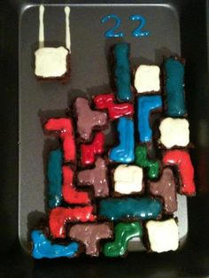 From a fan, a gift of brownies on her bday from her guy.  Quite... fitting.