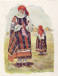 This Latvian dress is undoubtely archaic