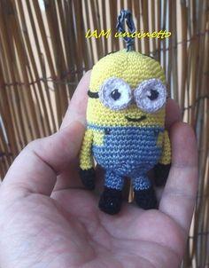 """Kevin Minion 100% cotone all'uncinetto. """"Cattivissimo me"""" o """"Minions"""", è sempre lui :D  Crochet amigurumi. Minions. Despicable me"""