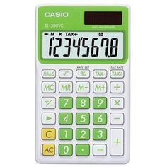 Casio SL300VCGNSIH Solar Wallet Calculator w/8-Digit Display - Green 999994341889 | eBay