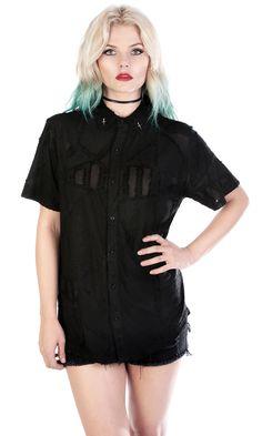 Layne Shirt #disturbiaclothing disturbia dagger pins black metal alien goth occult grunge alternative punk