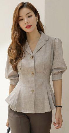 Frock Fashion, Fashion Sewing, Fashion Dresses, Peplum Dresses, Bandage Dresses, Peplum Blouse, Fashion Sets, Stylish Tops, Stylish Dresses