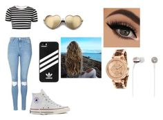 """""""Going out with your bff"""" by lovinglife56 on Polyvore featuring Topshop, Converse, adidas, Wildfox, Michael Kors and Kate Spade"""