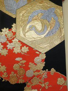 TABLE WALL RUNNER Silk Vintage Japanese Silk by WandererTextiles