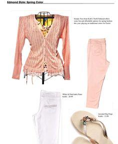 Edmond Style: Spring Color - Vera Wang Pastel Ankle Pants