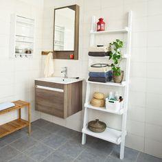 Moderno SoBuy capo scaffale con cinque ripiani, supporto scaffale, mensola, scaffale, libreria FRG17 bianco: Amazon.it: Casa e cucina