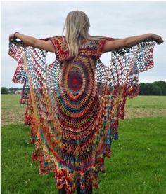 Crochet Bohemian Wing Vest.  A by Janny Dangerous