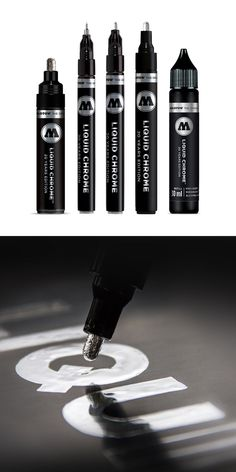 Available in either a or tip, or the refill. For the best mirror effect on smooth and non-absorbent surfaces. Paint Marker Pen, Marker Art, Graffiti Lettering, Graffiti Art, Molotow Marker, Cool Mirrors, Mirror Effect, Best Pens, Need Money