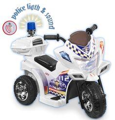 Loko Tri Bike, Politimotorsykkel med lyd og lys fra Lekmer. Om denne nettbutikken: http://nettbutikknytt.no/lekmer/