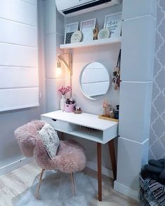 she shed ideas interior Bedroom Decor For Teen Girls, Room Ideas Bedroom, Teen Room Decor, Cute Room Decor, Small Bedroom Designs, Aesthetic Room Decor, Interior Design Living Room, Room Inspiration, Home Decor
