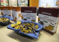 RW Garcia, a second generation Tortilla Company, started with refrigerated Tortillas. Now, they make all-natural, gluten tortilla chips, crackers, and toppers. This year, they launched 3 new gluten-free and 3 seeded cracker products: Sweet Potato, Kale, Harvest Pumpkin, and Blue Corn. Sweet. They minimize waste by donating corn husk/skins to pig farmers, out of code products to food banks, and donated a truck load of their healthy snacks to Hurricane Katrina victims. http://www.rwgarcia.com