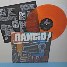 RANCID s/t - self titled - with gun LP Record ORANGE Vinyl , LIMITED EDITION #punkPunkNewWave