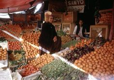 Fruit markets run by the villagers. Despite advancements at the time, fruit markets remained a staple in afghan culture and society.