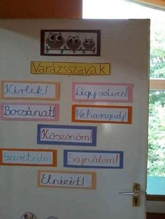Az enyemeket hiaba tettem ki! Senki nem ertekelte! En hasznalom oket. Classroom Design, Classroom Decor, School Door Decorations, School Doors, Teaching Aids, Birthday Board, Kids And Parenting, Elementary Schools, Crafts To Make