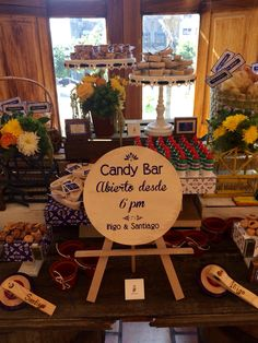 Bautizo mexicano candy bar Mexican Candy Table, Mexican Party, Fiesta Theme Party, Party Themes, Party Ideas, Bar Mexicano, Cowboy Birthday Party, Candy Bar Wedding, Western Parties