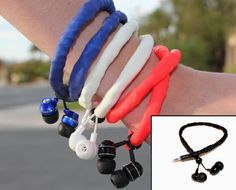 CordCrunchers...amazing headphones that retract into their sleeve, and can be stored by wearing them as a necklace or bracelet!  Unisex. Be the first person in your crowd to own a pair --by getting them on Kickstarter before  9 am Friday April 20  You'll love them!