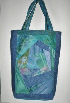 Batiks Tote Bag Handmade Crazy Quilt Embellished Front Design Inside Pocket One Of A Kind Batiks Tote Bag Handmade Crazy Quilt Embellished by Love2quilt #handmade #totebag #alexpals