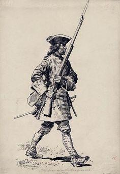 Bayern - Fusilier vom Leibregiment, 1700 by Anton Hoffman