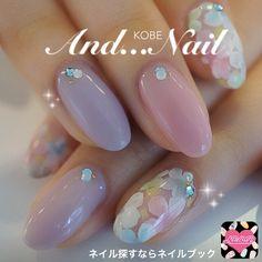 Nail image Kobe ★ and nail ★ Okaba 763,730 pastel flower spring soft gel hand