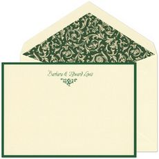 Hunter Green Border Jumbo Note Cards