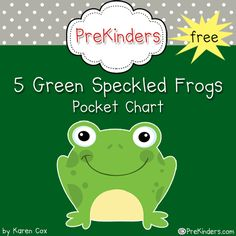 5 Green Speckled Frogs Pocket Chart Rhyme