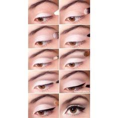 eye makeup | Tumblr found on Polyvore