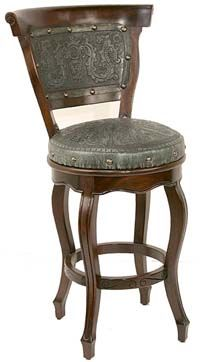 Awesome tooled Leather Bar Stools