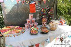 Un buffet d'anniversaire sur le thème de la fête foraine !