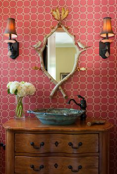 What do you think about this Northwood Powder Room??   #DesignPinThurs  #TileSensations