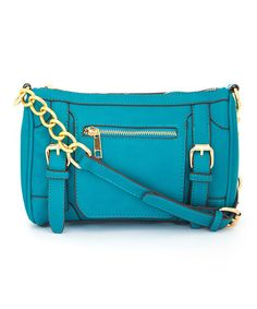 Look what I found on #zulily! Teal Hondura Crossbody Bag by MKF Collection #zulilyfinds