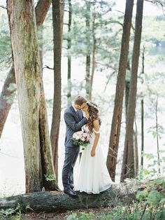 enchanted forest bride and groom, photo by Geneoh Photography | via junebugweddings.com
