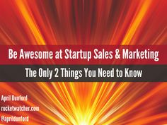 Awesome Startup Marketing and Sales